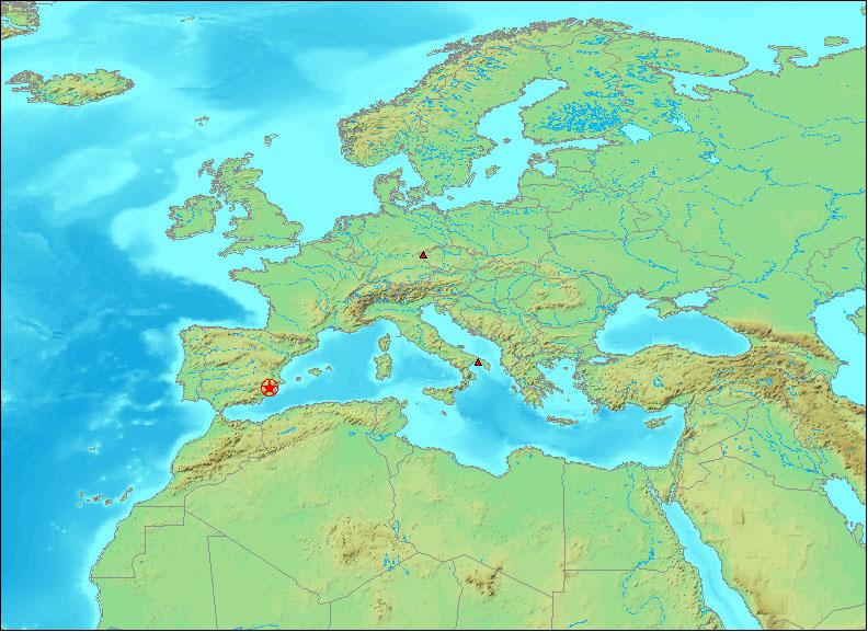Map Of Spain Near Murcia.1911 04 03 10 10 11 M 5 1 Near Murcia Se Spain